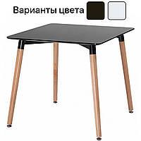 Столик кухонный обеденный Bonro В-950-800 80х80х75 см стол для кухни Черный