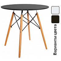 Столик кухонный обеденный Bonro В-957-900 90х75 см стол круглый для кухни Черный