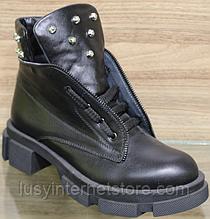 Чоботи зимові зі шкіри стильні виробника модель ВЛ22