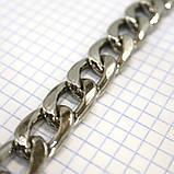 Цепь металлическая никель для сумок крупная a6098, фото 2