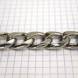 Цепь металлическая никель для сумок крупная a6098, фото 3