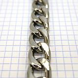 Цепь металлическая никель для сумок крупная a6098, фото 4
