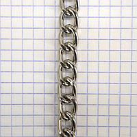 Цепь металлическая никель для сумок средняя a6088 (4 м.)