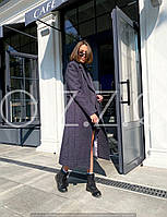 Длинное пальто халат темно-серое O.Z.Z.E Д 327