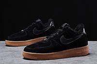 Зимние мужские кроссовки 31731, Nike Air AF1 (мех), черные, [ 42 44 ] р. 41-26,0см. 42
