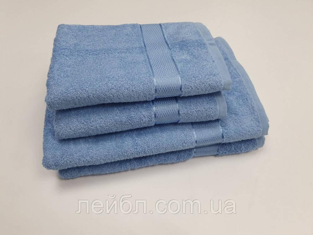 Полотенце махровое, Голубой (Руки 40/70см)