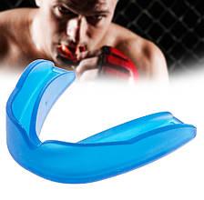 Капа боксерская взрослая для защиты зубов (цвет синий)