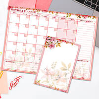 """Комплект магнітних планерів """"Plan a Month"""" Rose (магнітні планери, магнітні дошки, календар)"""