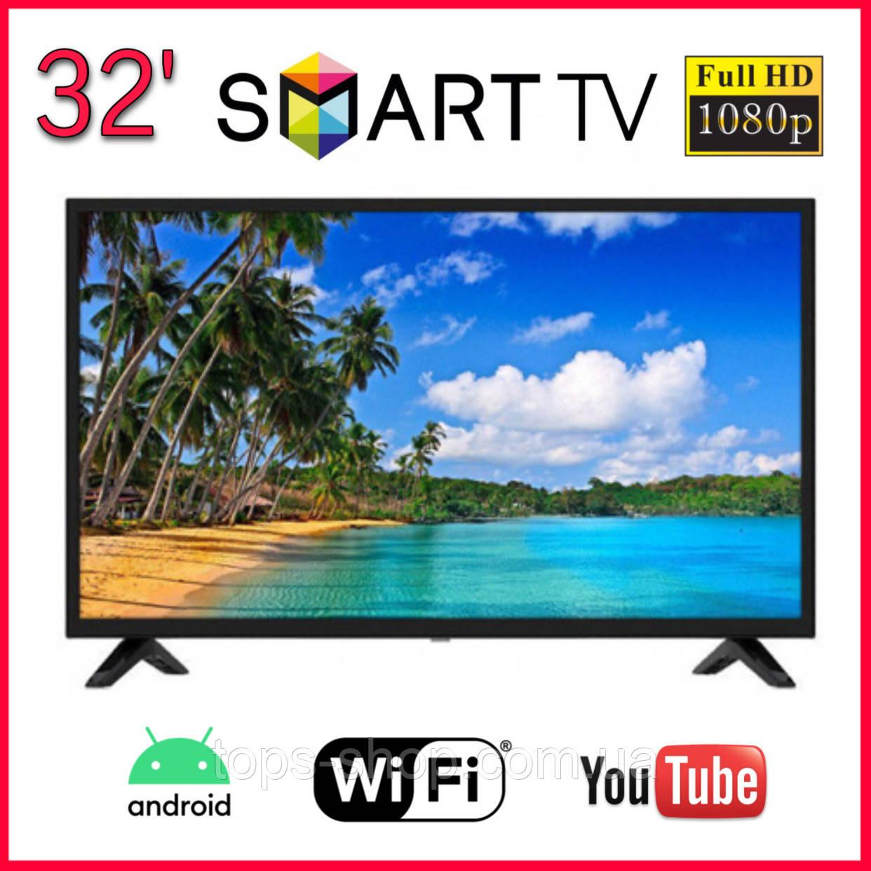 """LED Телевізор L34 32"""" ANDROID 9.0 SmartTV Безрамний + Т2 під SAMSUNG, Якісний телевізор смарт тв"""