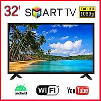 "LED Телевизор L34 32"" FullHD/SmartTV/Android 9.0/WiFi Безрамный + Т2 под SAMSUNG, телевизор 32 дюйма смарт"