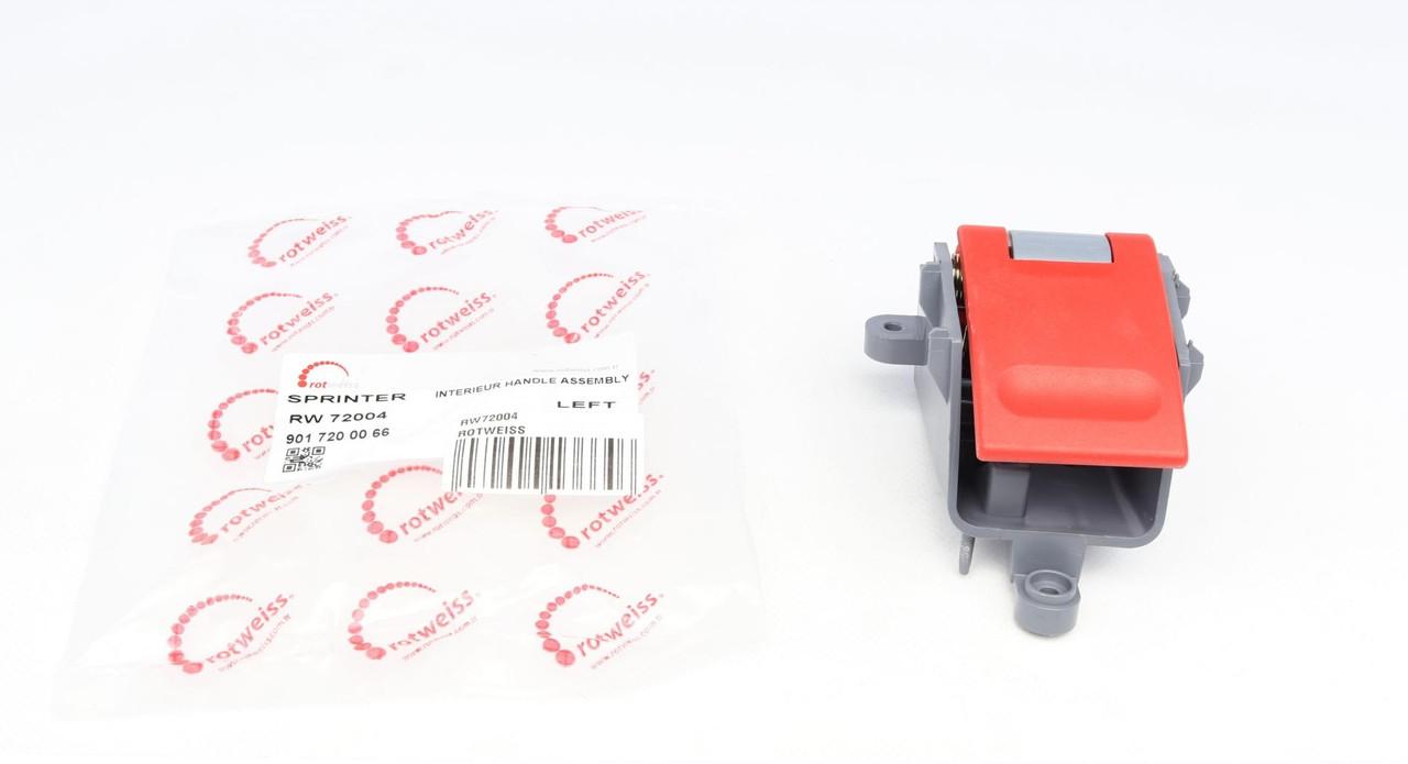 Ручка дверей передньої лівої (внутрішня) MB Sprinter TDI (червона) (RW72004) ROTWEISS