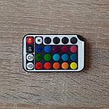 Разноцветная лента 5м с пультом ДУ RGB 3528 LED и Блоком Питания Уличная Гирлянда, фото 6