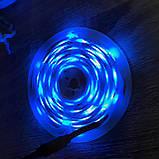 Разноцветная лента 5м с пультом ДУ RGB 3528 LED и Блоком Питания Уличная Гирлянда, фото 8