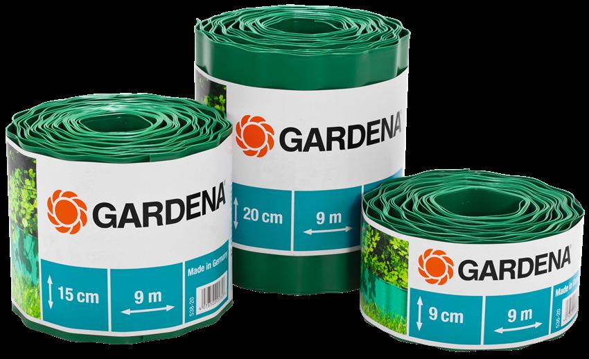 Бордюр садовый зеленый 9м*15см  | 00538-20.000.00