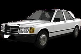 Дефлекторы на боковые стекла (Ветровики) для Mercedes (Мерседес) C-class W201 1982-1993