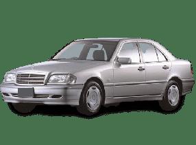 Дефлекторы на боковые стекла (Ветровики) для Mercedes (Мерседес) C-class W202 1993-2000
