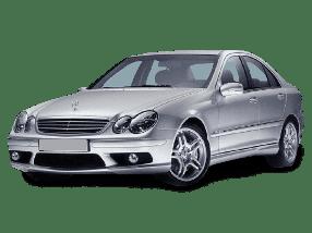 Дефлекторы на боковые стекла (Ветровики) для Mercedes (Мерседес) C-class W203 2000-2006