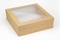 "Коробка ""Ассорти"" М0004-о12 крафт с окном, размер: 300*300*90 мм"