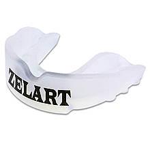 Капа боксерская взрослая для защиты зубов (цвет белый) чехол в комплекте