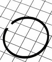 Кольцо поршневое для бензопилы Husqvarna мод.137 38мм