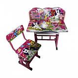 Парта детский письменный стол и стул для девочки, фото 2
