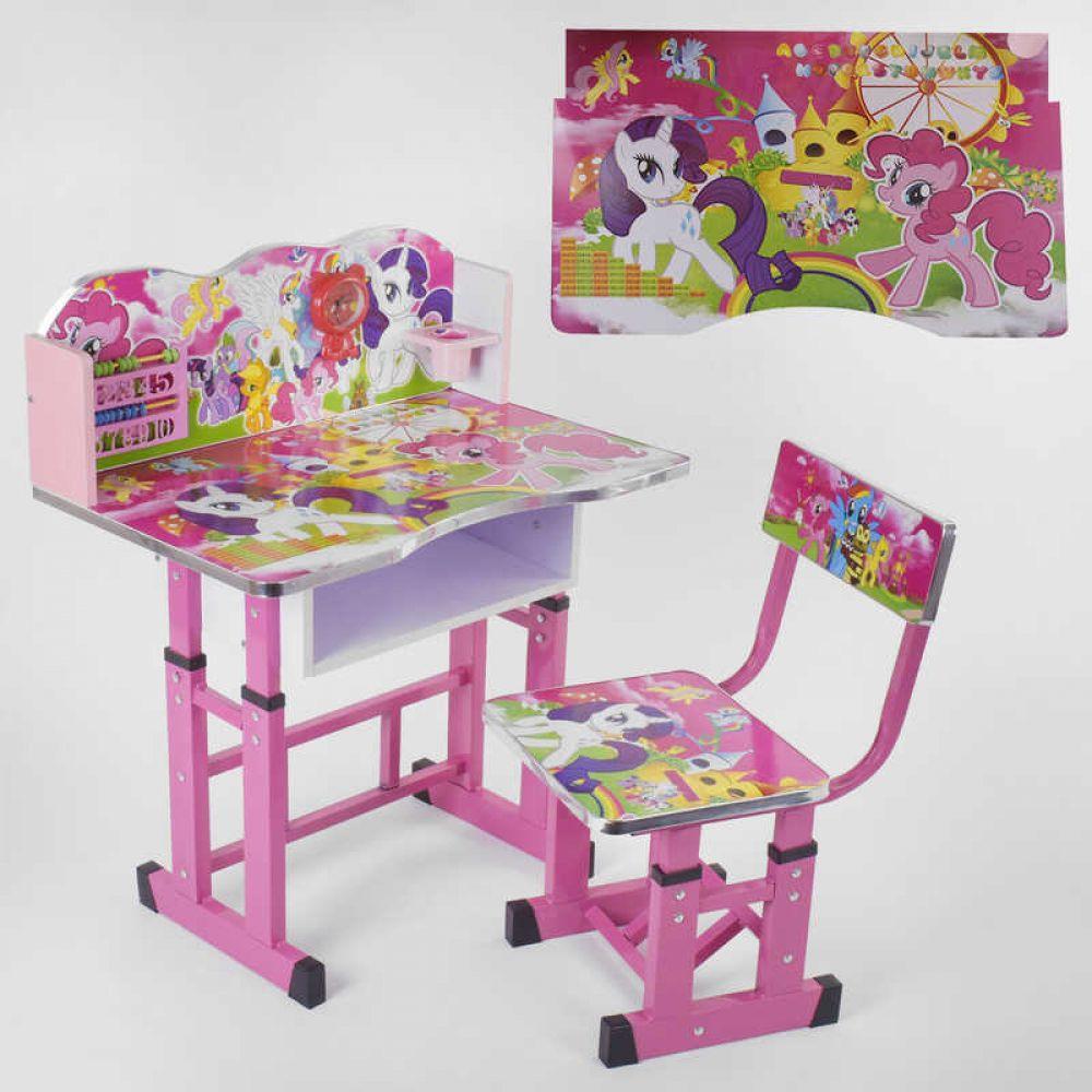 Парта детский письменный стол и стул для девочки