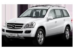 Дефлекторы на боковые стекла (Ветровики) для Mercedes (Мерседес) GL-class (X164) 2006-2012