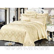 Комплект  постельного белья сатин жаккард Тиара семейный размер 1733