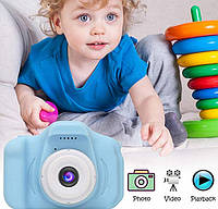 Цифровой детский фотоаппарат +камера Summer Vacation Smart Kids KVR Blue, фото 1
