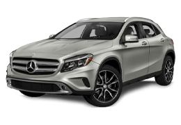 Дефлекторы на боковые стекла (Ветровики) для Mercedes (Мерседес) GLA-class (X156) 2013+
