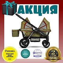 Прогулочная коляска для 2-х детей Evenflo Pivot Xplore All-Terrain Stroller Wagon - Gypsy. Гарантия 2 года!