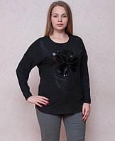Оригинальная туника с паетками серого цвета, фото 1