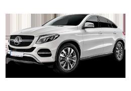 Дефлекторы на боковые стекла (Ветровики) для Mercedes (Мерседес) GLE (C292) 2015+