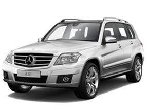Дефлекторы на боковые стекла (Ветровики) для Mercedes (Мерседес)GLK-class (X204/RESTYLING) 2008-2015