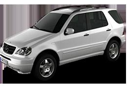 Дефлекторы на боковые стекла (Ветровики) для Mercedes (Мерседес) ML-class W163 1996-2005