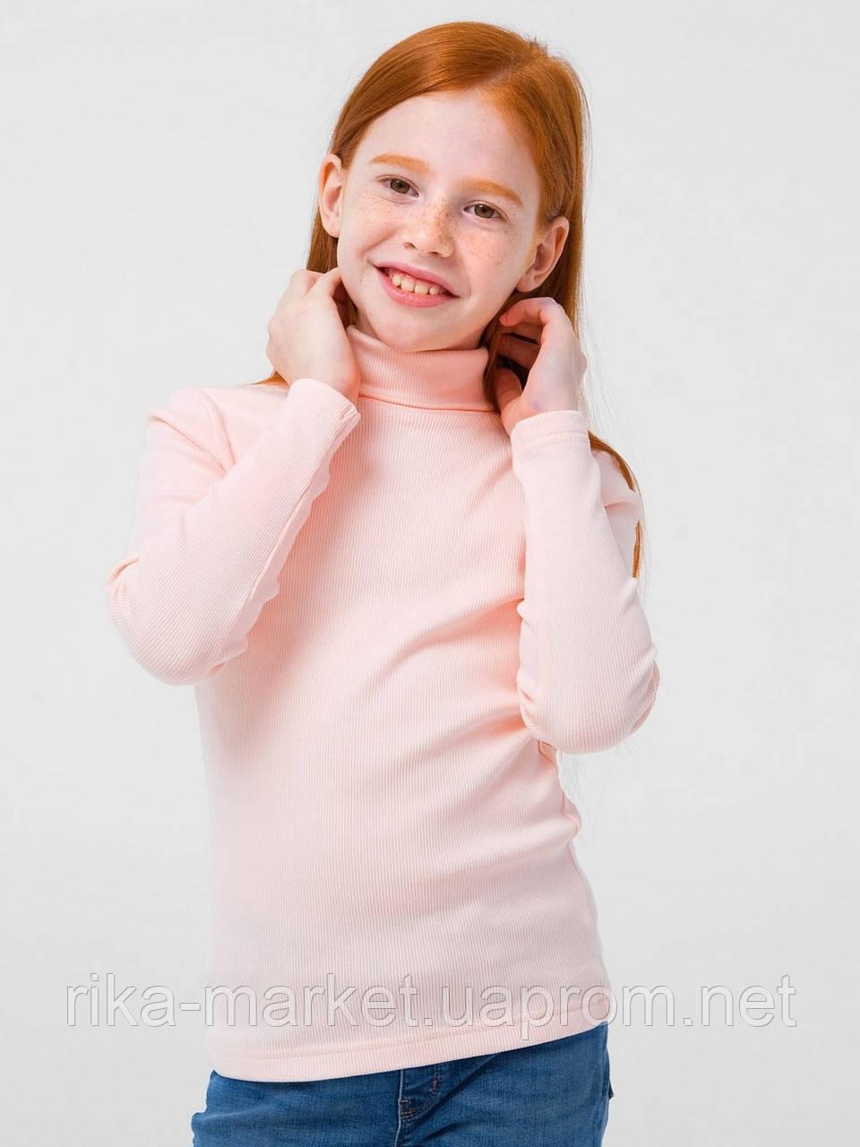 Гольф-стойка с отворотом для девочки Смил, арт. 114774/114775/114776, возраст от 4 до 14 лет