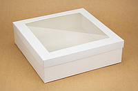 """Коробка """"Ассорти"""" М0004-о11 белая с окном, размер: 300*300*90 мм"""