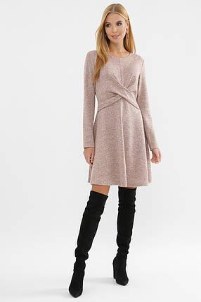 Городское зимнее приталенное платье-гольф   Размеры   S M L XL, фото 2