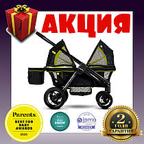 Прогулочная коляска для 2-х детей Evenflo Pivot Xplore All-Terrain Stroller Wagon - Wayfarer. Гарантия 2 года!
