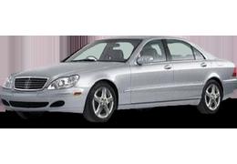 Дефлекторы на боковые стекла (Ветровики) для Mercedes (Мерседес) S-class W220 1998-2005