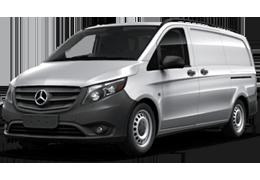 Дефлекторы на боковые стекла (Ветровики) для Mercedes (Мерседес) Vito III W447 2014+