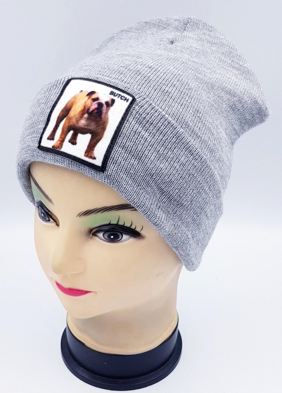 Детская вязаная шапка Klaus Объемный шеврон 53-55см (354-ВА)