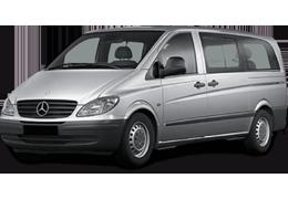 Дефлекторы на боковые стекла (Ветровики) для Mercedes (Мерседес) Vito/Viano II W639 `03-14