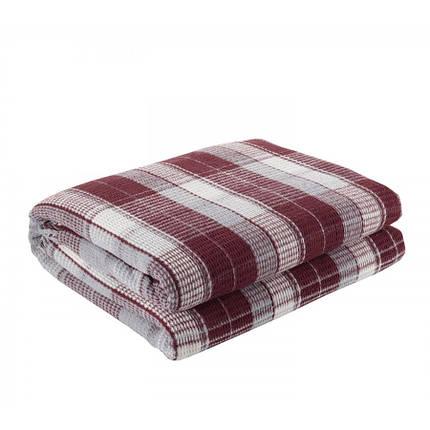 Плед Eponj Home - Ekose 150*220 Bordo-Gri бордовый-серый, фото 2