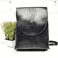 Сумка-рюкзак женская, искусственная кожа, черный Арт.F3347-2 black (Китай)