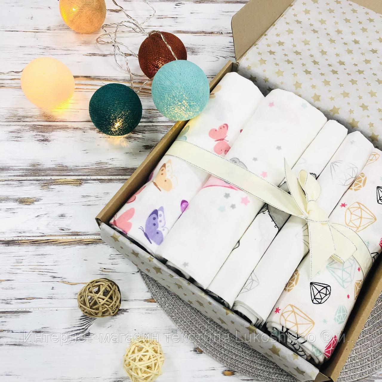 Подарочный набор пеленок Lukoshkino ® для девочки розовый №7