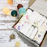 Подарочный набор пеленок Lukoshkino ® для девочки розовый №7, фото 1