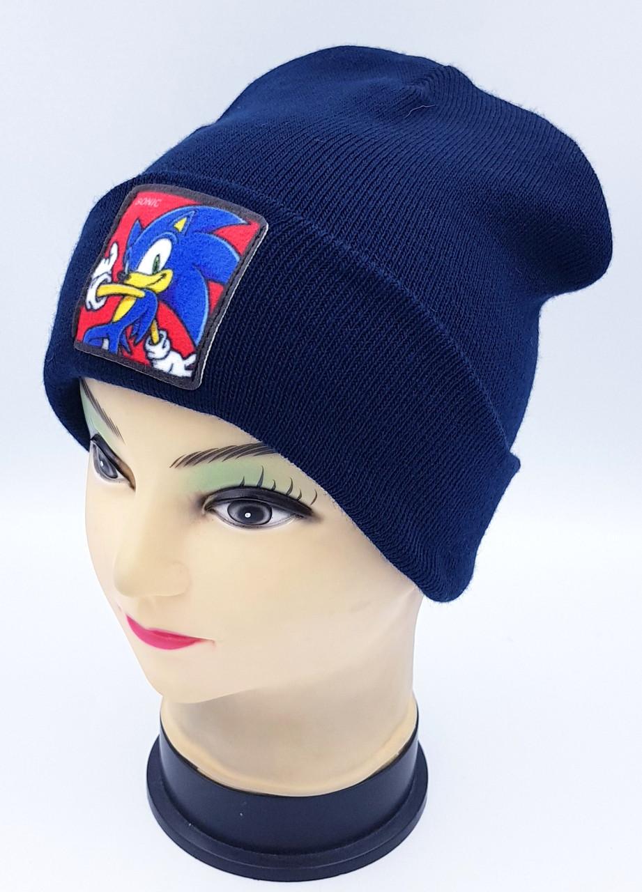 Детская вязаная шапка Klaus Объемный шеврон 53-55см (362-ВА)