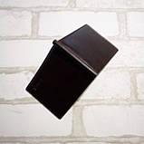Зажим для денег кожаный с отделением для карт черный, фото 3