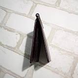 Зажим для денег кожаный с отделением для карт черный, фото 4